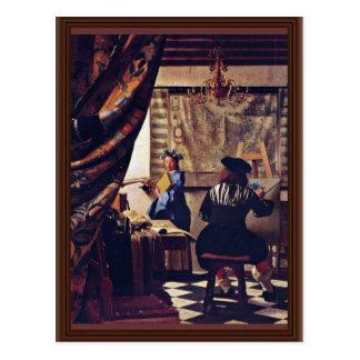 Die Allegorie von Malerei-Oder-D die Kunst von Postkarte
