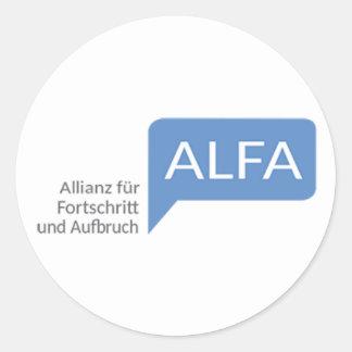 Die Allianz-Pelz Fortschritt und Aufbruch Runder Aufkleber