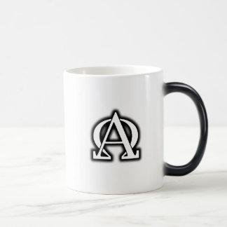 Die AlphaOmega Spezialitäten-Tasse Verwandlungstasse