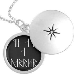Die als Krieger-Anhänger Runde Medaillon Halskette