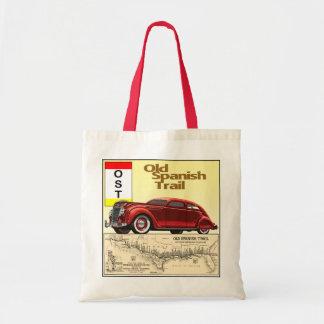 Die alte Spanisch-Spur - historische Auto-Spur Einkaufstaschen