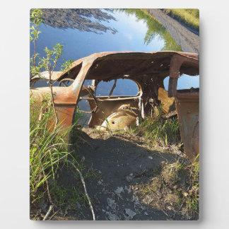 Die alten Autos von Eklutna Tailrace Fotoplatte