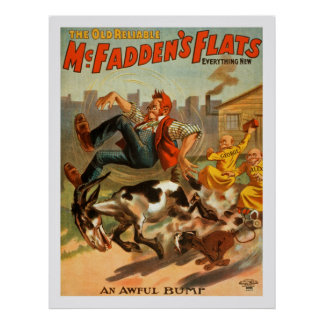 Die alten zuverlässigen des McFaddens Ebenen, Poster