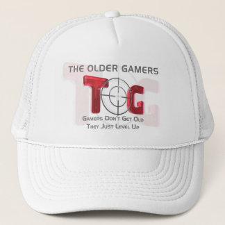 Die ältere Gamers-Baseballmütze - rotes Logo Truckerkappe
