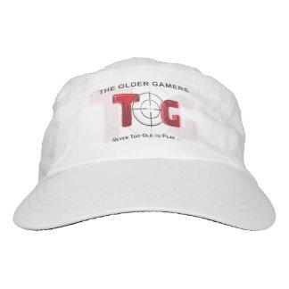 Die ältere Gamers-Kappe - rotes Logo Headsweats Kappe