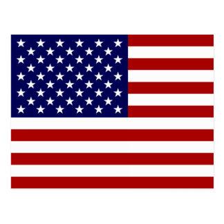 Die amerikanische Flagge Postkarte