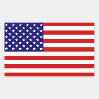 Die amerikanische Flagge Rechteckiger Aufkleber