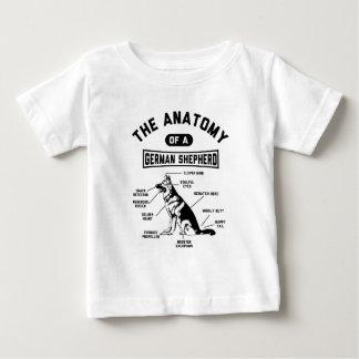 Die Anatomie eines Schäferhunds Baby T-shirt