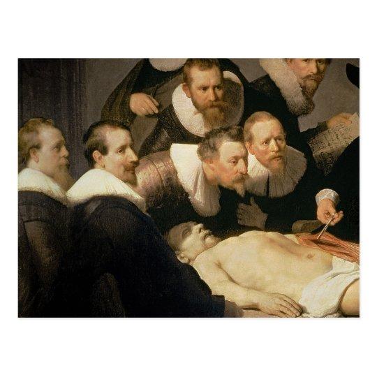 Die Anatomie-Lektion von Dr. Nicolaes Tulp, 1632 Postkarte | Zazzle