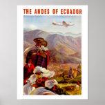Die Anden von Ecuador Plakatdruck