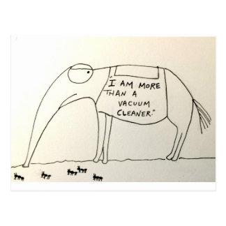 Die Angebote des Aardvarks Postkarte