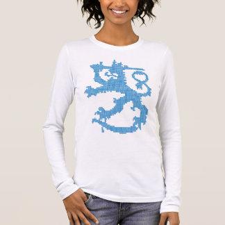 Die angepasste lange Hülse der Sisu Löwe-Frauen Langarm T-Shirt