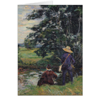 Die Angler c 1885 Grußkarten