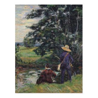 Die Angler, c.1885 Postkarten
