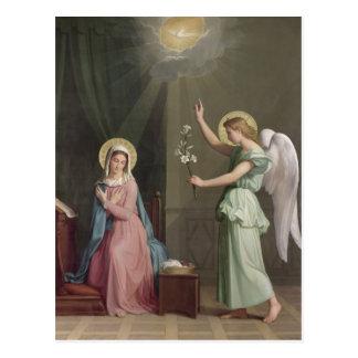 Die Ankündigung, 1859 Postkarte