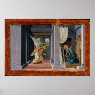 Die Ankündigung, circa 1485 Poster