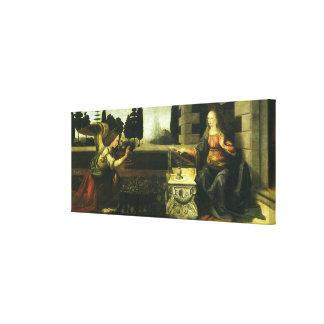 Die Ankündigung durch Leonardo da Vinci Leinwanddruck