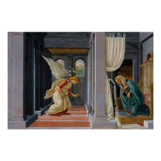 Die Ankündigung durch Sandro Botticelli Poster