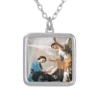 Die Ankündigung, Francisco José de Goya, schöne Versilberte Kette
