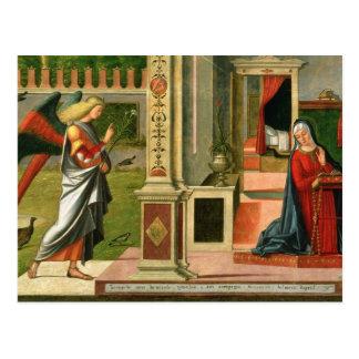 Die Ankündigung (Öl auf Platte) (Detail von Postkarte