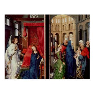 Die Ankündigung und die Darstellung im Tempel Postkarte
