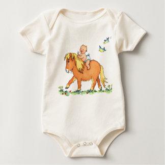 Die Ankunft des Babys auf Pony-Pferd - Baby Strampler