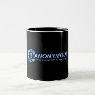 Die Anonymus-Tasse Zweifarbige Tasse