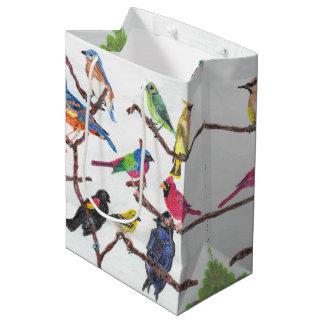 Die Ansammlungs-bunte Singvogel-mittlere Mittlere Geschenktüte