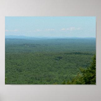 Die Ansicht vom Berg Agamenticus, Maine Poster