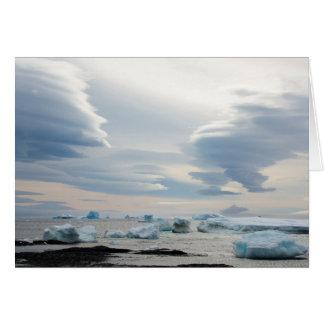 Die Antarktis. Brown-Täuschung. Lentikulare Wolken Karte