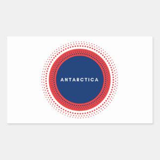 Die Antarktis Rechteckiger Aufkleber