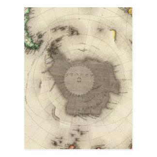 Die Antarktis, südliche Hemisphäre Postkarte