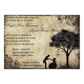 Die Antrag-Vintage Hochzeits-Einladung im