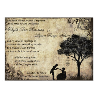 Die Antrag-Vintage Hochzeits-Einladung im 12,7 X 17,8 Cm Einladungskarte