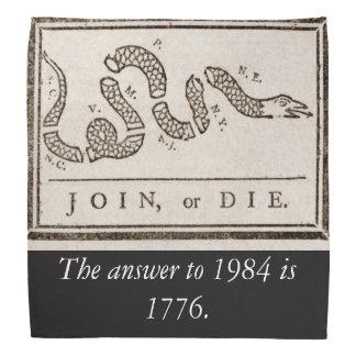 Die Antwort bis 1984 ist Bandana 1776 Kopftuch