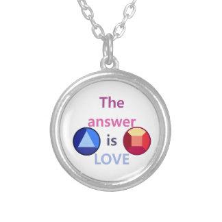 Die Antwort ist Liebe (v1) Versilberte Kette