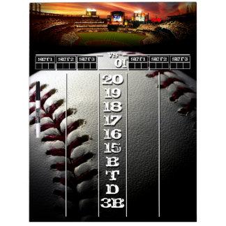 Die Anzeigetafel des Baseball - Fans für Trockenlöschtafel
