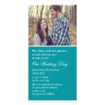 Die aquamarinen Wedding Foto-Karten lädt ein Personalisierte Foto Karte