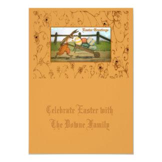 Die Arbeit eines Kaninchens wird nie erledigt 12,7 X 17,8 Cm Einladungskarte