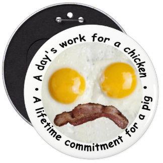 Die Arbeit eines Tages für ein Huhn… Runder Button 15,3 Cm