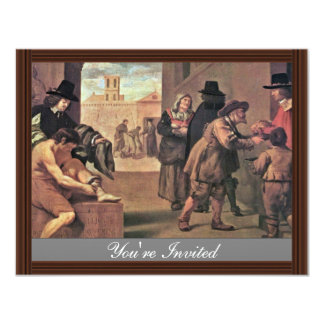Die Arbeiten der Gnade durch Montallier Pierre ( 10,8 X 14 Cm Einladungskarte