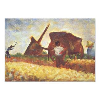 Die Arbeiter durch Georges Seurat 8,9 X 12,7 Cm Einladungskarte