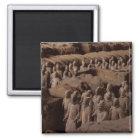 Die Armee der Terrakotta-Krieger am Kaiser Qin Quadratischer Magnet