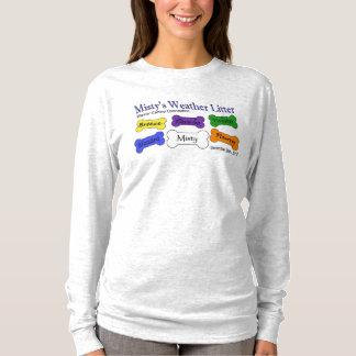 Die Aschen-lange Hülse der Wetter-Sänfte-Frauen T-Shirt