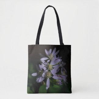 Die Aster-lila Herbst-Wildblume-Taschen-Tasche des Tasche