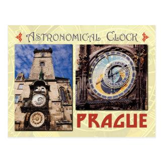 Die astronomische Uhr Prags, Tschechische Republik Postkarte