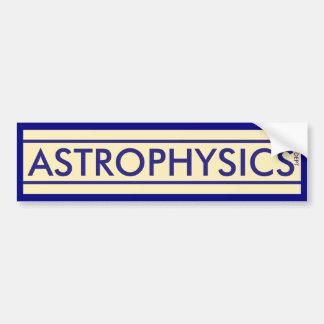 Die Astrophysik-Abteilung Autoaufkleber