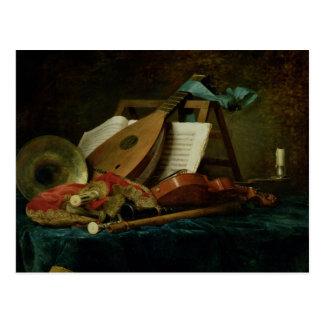 Die Attribute von Musik, 1770 (Öl auf Leinwand) Postkarte