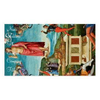 Die Auferstehung von Christ Visitenkartenvorlage