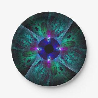 Die Augen-abstrakte Kunst Pappteller
